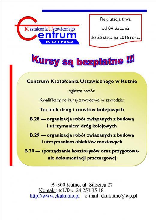 Rekrutacja CKU 2016 część 1